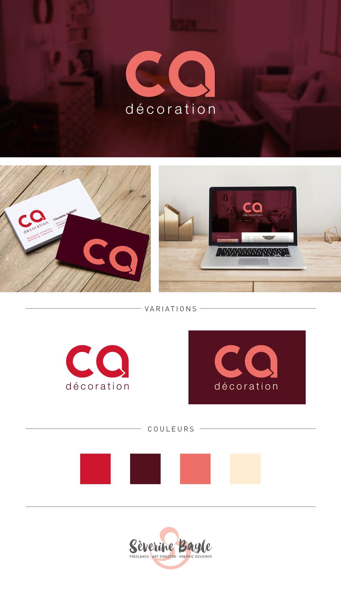 ca décoration : identité visuelle et webdesign