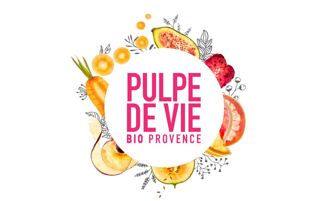 Logo fruité Pulpe de Vie