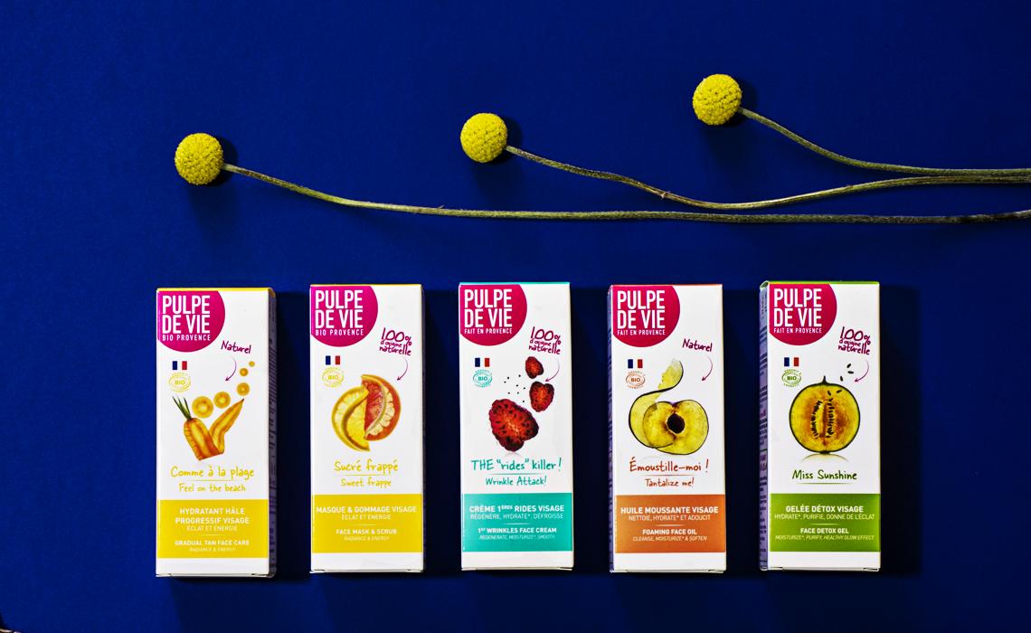 Packagings créés pour Pulpe de Vie